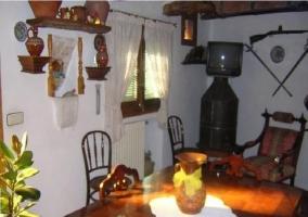 Sala de estar con calefacción