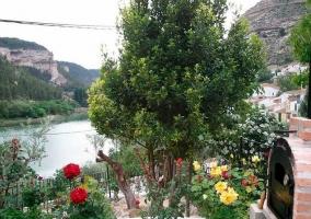 Barbacoa con vistas al río