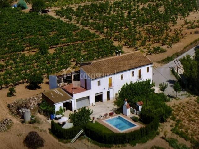 Vista aérea de la casa Mas Prat