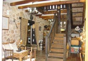 Detalle del techo de madera