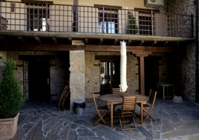 Salón y chimenea