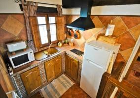 Cocina del apartamento Cámara