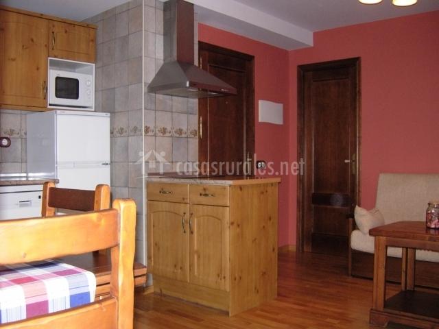 Salón y cocina Canciás