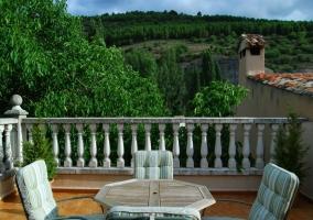 Fachada del hotal restaurante y terraza