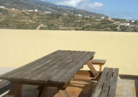 Terraza amueblada y con vistas