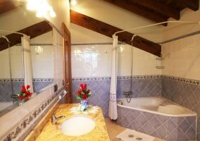 Cuarto de baño con jacuzzi