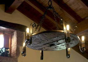 Lámpara en el salón