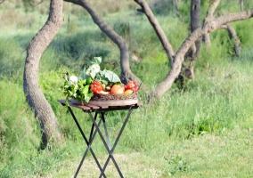 Detalle de hortalizas y frutas