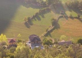 Vistas de la casa desde el aire