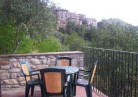 Vistas de la terraza de la casa con vistas