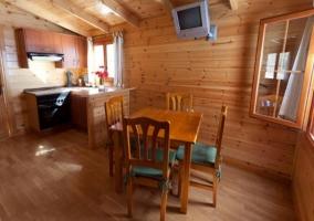 Sala de estar en el bungalow grande