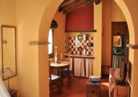 Cocina y salón comedor