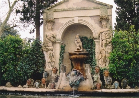 Fuente en el Castillo de Púbol