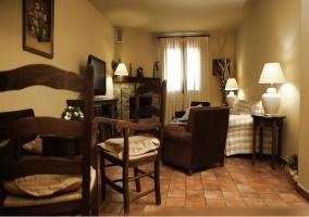 Sala de estar de la casa rural