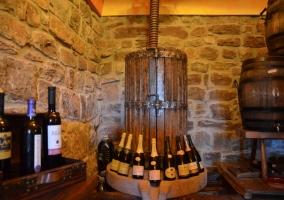 Antigua prensa de vino