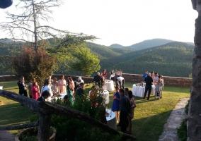 Una boda en nuestros jardines con vistas