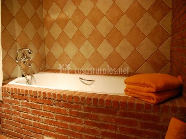 Bañera para tomarse un baño relajante
