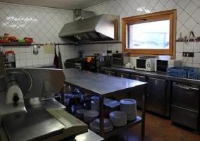 La cocina es inmensa