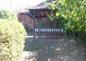 Exterior de la casa desde el jardín interior