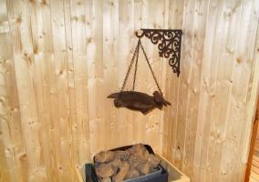 Detalle de la sauna