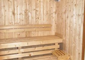 Sauna en su interior