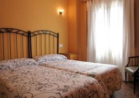 Dos camas en una de las habitaciones
