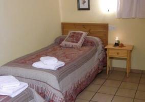 Dormitorio con cama individual 1