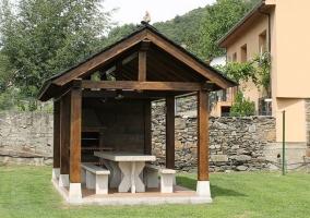 Terraza y muebles cómodos