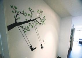 Detalle decorativo del pasillo