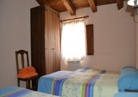 Dormitorio 2 camas con supletoria