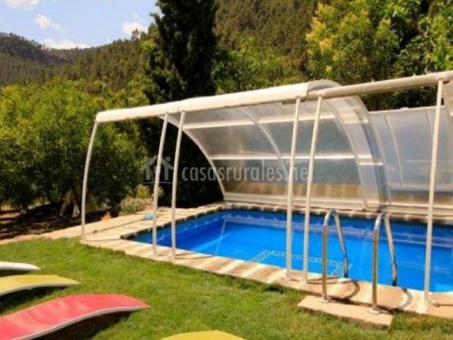 Casa rural barranco moreno en bicorp valencia for Hamacas de piscina