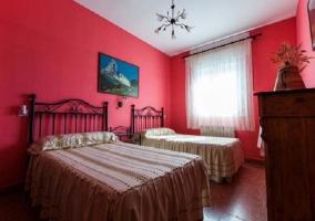 Dormitorio azul de matrimonio