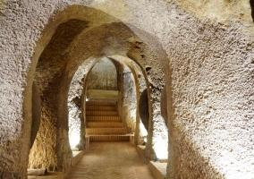 Escaleras y galerías del spa