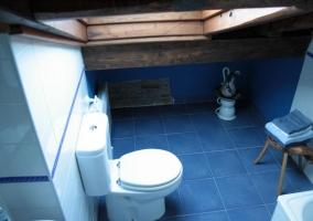 Baño de suelos azules