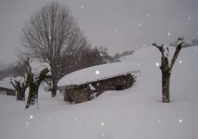 La casa en pleno invierno