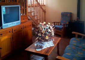 Salón-comedor con televisión