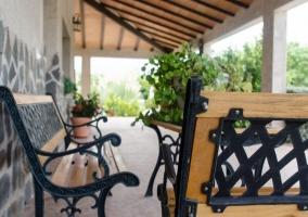 Mobiliario en jardín