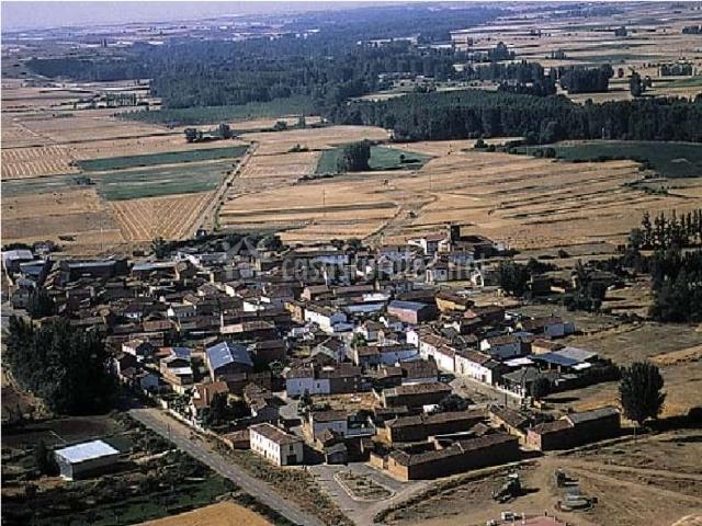 El pueblo desde el aire