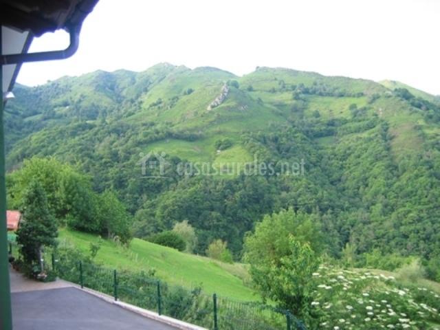 Vista del paisaje desde la casa