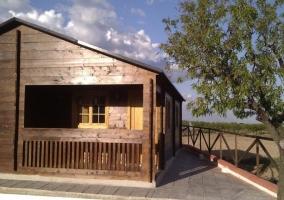 Vista exterior en madera