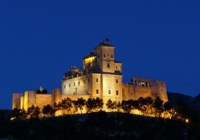 Castillo de Caravaca de la Cruz por la noche