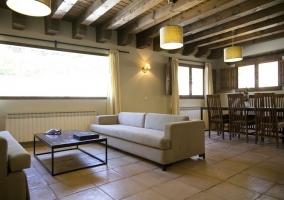Amplios sofás y decoración moderna