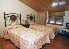 Dos camas del ático