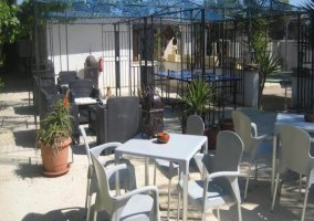 Mobiliario en terraza