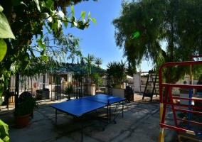 Mesa de ping - pong y columpios