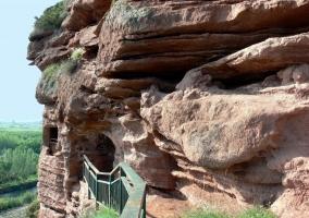 Pasarela de las cuevas de Nájera