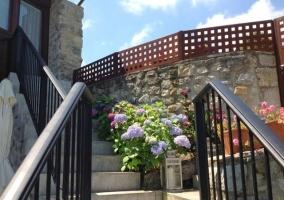 Antigua escalera del hórreo
