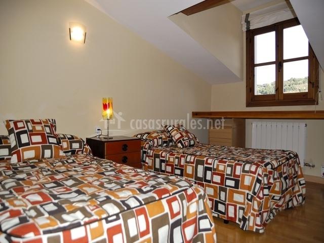 Dormitorio de dos camas