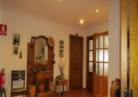 Fachada de la vivienda, del estilo tradicional de las viviendas del pueblo