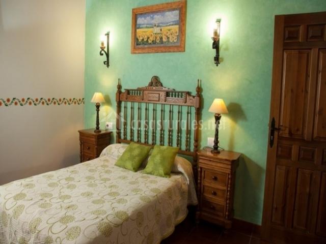 Habitación de color verde